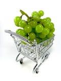 cart grön shopping för druvor Fotografering för Bildbyråer