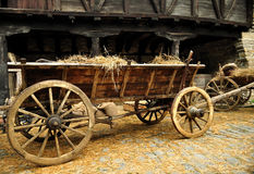 Cart with hay Royalty Free Stock Image