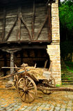 Cart with hay Royalty Free Stock Images