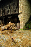 Cart with hay Stock Photography