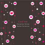 Cart with hearts. Doodles Royalty Free Stock Image
