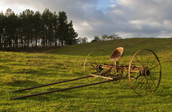 Cart on the hill Royalty Free Stock Image