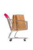 The cart in holiday shopping concept Stock Image
