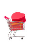 The cart in holiday shopping concept Stock Photos