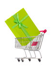 The cart in holiday shopping concept Royalty Free Stock Image
