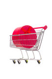 The cart in holiday shopping concept. Cart in holiday shopping concept Stock Photos