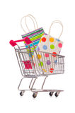 The cart in holiday shopping concept. Cart in holiday shopping concept Royalty Free Stock Photo
