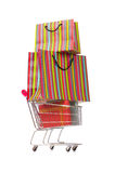 The cart in holiday shopping concept Royalty Free Stock Photo