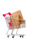 Cart in holiday shopping concept Stock Image