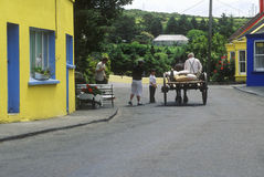 Cart and horse, Eyeries Village, West Cork, Ireland Royalty Free Stock Images