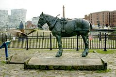Cart Horse Monument Liverpool Royalty Free Stock Images