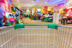 The cart in indoor amusement park Stock Photography