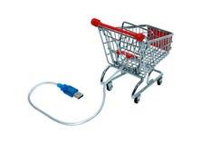 cart kontrollonline-shopping Royaltyfri Fotografi