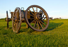 Cart on Manassas Battlefield Royalty Free Stock Image