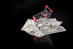 Cart with money. Stock Photography