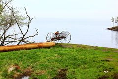 The cart near the lake. Valaam Island, Russia Stock Photography