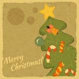 Cart?o da ?rvore de Natal Fotografia de Stock