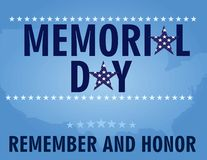 Cart?o de Memorial Day ilustração stock