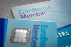 Cart?o do membro dos pontos de Eurobonus ilustração stock