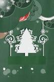 Cart?o verde do ano novo do applique Foto de Stock Royalty Free