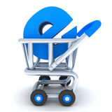 Cart och e-shoppa royaltyfri illustrationer