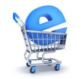 Cart och e-shoppa symbolet Vektor Illustrationer