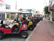 Cart parking Stock Image