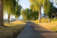 Cart Path at Golf Course Royalty Free Stock Photo
