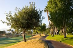Cart Path at Golf Course Royalty Free Stock Images