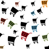 Cart pattern. Seamless pattern with shopping icons Royalty Free Stock Photography