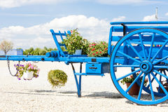 Cart in Provence. Blue cart in Valensole region, Provence, France Royalty Free Stock Photography