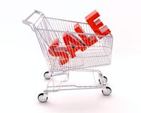 Cart for purchases and sale Royalty Free Stock Photography