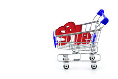 Cart for purchases and sale Royalty Free Stock Images