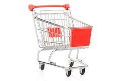 cart röd shopping Fotografering för Bildbyråer