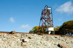 Cart Rails in Abandoned Old Mining Operation Royalty Free Stock Photo