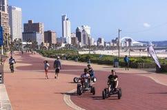Cart Riding on Promenade at Durban's Beachfront Royalty Free Stock Photo