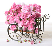 Cart of Roses Stock Photo
