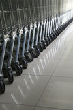 Cart in row Royalty Free Stock Images