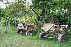 Cart. 2 rural carts in a field Stock Images