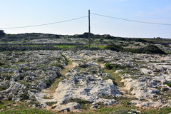 Cart ruts in Malta. Royalty Free Stock Images