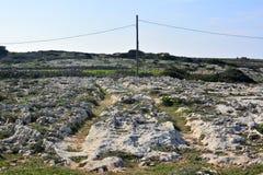 Cart ruts in Malta. Royalty Free Stock Images