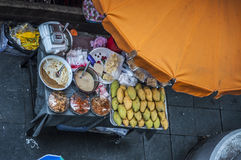 Cart sell Mango with sticky rice in Thailand style Royalty Free Stock Photography