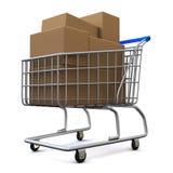 cart shopping Arkivbilder