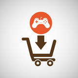 Cart shopping  design. Illustration eps10 graphic Stock Images