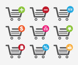 Cart shopping design Royalty Free Stock Photography