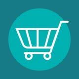 Cart shopping isolated icon. Illustration design Stock Image