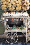 Cart of sponges and soap. Sponges and soap cart at crete,greece Royalty Free Stock Image