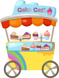 Cart stall and a cupcake Stock Photos