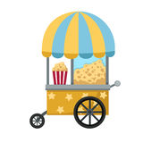 Cart stall and popcorn vector Stock Photography