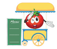 A cart stall and a tomato Royalty Free Stock Images